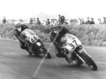 Yamaha 250cc Phil Read & Honda RC166 6 cyl Mike Hailwood  Snetterton 1967.Photo